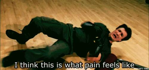 """""""Eu acho que é com isso que a dor se parece…"""" Você sequer sabe como a dor realmente é…"""
