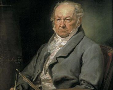 Retrato de Goya feito por Vicente López Porteña